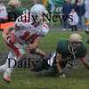North Reading: Amesbury's Jared Flannigan scores during the Indians  game at North Reading Saturday. photo by Jim Vaiknoras/Newburyport Daily News, Saturday November 15, 2008