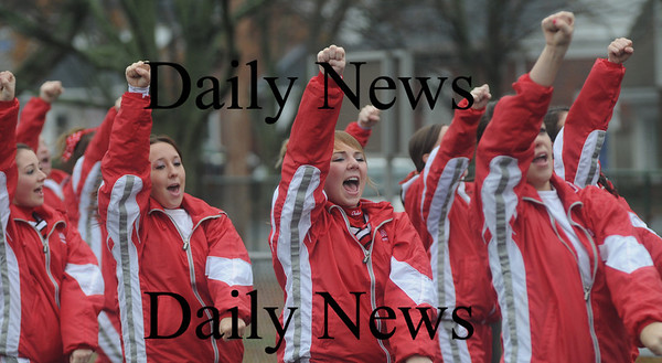 North Reading: Amesbury's cheerleaders show their support during the Indians game at North Reading Saturday. photo by Jim Vaiknoras/Newburyport Daily News, Saturday November 15, 2008