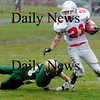 North Reading: Amesbury's Kevin Johnston looks for running room  during the Indians  game at North Reading Saturday. photo by Jim Vaiknoras/Newburyport Daily News, Saturday November 15, 2008