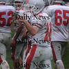 North Reading: Amesbury's Jared Flannigan give a thumbs up after scoring during the Indians  game at North Reading Saturday. photo by Jim Vaiknoras/Newburyport Daily News, Saturday November 15, 2008