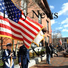 Newburyport:The color guard from the Coast Guard station Merrimack River stand at attention during the annual Veteran's Day ceremony Tuesday at Newburyport City Hall.photo by Jim Vaiknoras/Newburyport  Daily News. Sunday November 8, 2008