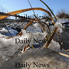 Newbury: Ice formed by this weekend winterlike weather, makes an early season appearance in the salt marsh along the Plum Island Turnpike. photo by Jim Vaiknoras/Newburyport Daily News. Sunday November 23, 2008
