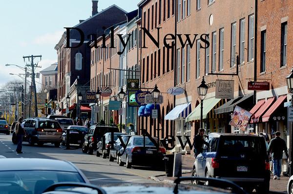 Newburyport:State Street in  Newburyport. photo by Jim Vaiknoras/Newburyport  Daily News. Sunday November 8, 2008