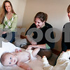 Newburyport:<br /> Baby massage lessons, from left, Heather Goodrow, Megan Taffel, with Calli, and Melissa O'Brien.<br /> Photo by Ben Laing/Newburyport Daily News Thursday, October 30, 2008