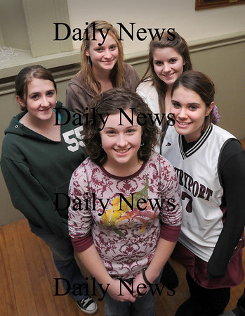 Newburyport:<br /> Teens Against Tobacco Use, led by Rosie Preston, center, recently won an $8,000 mini grant from the Mass. Youth Against Tobacco. Some of the dozen members present for the photo are, from left, Chrissy Madden, Carlie Schena, Ali Mogren and Haley Morris.<br /> Photo by Bryan Eaton/Newburyport Daily News Wednesday, October 29, 2008
