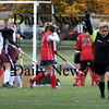 Newburyport:<br /> The Newburyport High field hockey team celebrates their second goal of the game againts Tewksbury yesterday at Fuller Field.<br /> Photo by Bryan Eaton/Newburyport Daily News Wednesday, October 29, 2008