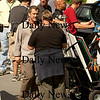 "Merrimac: Mel Gibson finishes up after shooting a scene along River Road in Merrimac for his new movie, ""Edge of Darkness"". Photo by Ben Laing/Newburyport Daily News Monday September 15, 2008."