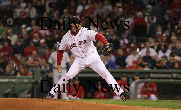 Boston: Starting pitcher Josh Beckett failed to clinch a playoff spot for the Red Sox after giving up four runs in a defeat to the Indians Monday night at Fenway. Photo by Ben Laing/Eagle Tribune Monday September 22, 2008.