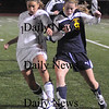 Lynn: Newburyport's  Jillian Kinter controls the ball aqainst Lynnfield at Manning Field in Lynn Thursday night.The Clippers won the game 1-0.photo by Jim Vaiknoras/Newburyport Daily News. Thursday November 13, 2008.