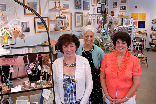 Newburyport: Three sisters have opened a new shop, Sisters We Three, on Pleasant Street which sells work from 120 artists. From left, Cathy Sweazey, Jan Morgan and Ann Baldwin.