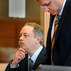 Newburyport:<br /> Daniel Winsky, seated, appears in Ipswich District Court with his lawyer John Morris for pretrial motions Wednesday. WInsky is accused by police of being intoxicated while students were taking driving lessons with him in his capacity as a driving instructor in Ipswich.<br /> Photo by Bryan Eaton/Newburyport Daily News Wednesday, April 15, 2009