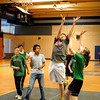 Newbury:<br /> Triton Middle School students play a game of basketball on Wednesday, the last day of the intramural games that include floor hockey on Tuesdays. The popular program ended with the children getting ice cream as the end of the game.<br /> Photo by Bryan Eaton/Newburyport Daily News Wednesday, April 15, 2009