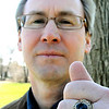 Amesbury:<br /> Dave McDougall, class of 1984 at King's Point Merchant Marine Academy, recently got back his class ring that was missing for many years.<br /> Photo by Bryan Eaton/Newburyport Daily News Wednesday, April 15, 2009
