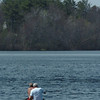 Amesbury: Two canoeists paddle against a strong wind as they headed out for a trip around Lake Gardner in Amesbury leaving from the public beach Tuesday afternoon. Bryan Eaton/Staff Photo  Newburyport News  Tuesday April 28, 2009.