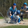 Georgetown: Triton catcher Andrew Fecteau tags Georgetown player Danyer Fabian out at home plate.  Bryan Eaton/Staff Photo/Newburyport News  Friday April 24, 2009.