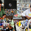 Newburyport:<br /> Kat Couree, left, and Marge Killam work on origami cranes at the Emma Andrews Branch Library for Earth Day.<br /> Photo by Bryan Eaton/Newburyport Daily News Wednesday, April 15, 2009