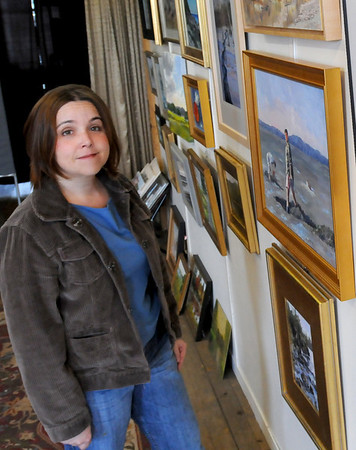 Amesbury: Artist and teacher Julie Airoldi is hosting an exhibition of her student's work in her Amesbury studio. Bryan Eaton/Staff Photo  Newburyport News  Wednesday April 29, 2009.