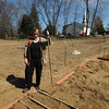Newbury:Erin Stack stands in the organic garden behind the First Parish Church in Newbury.Jim Vaiknoras/staff photo