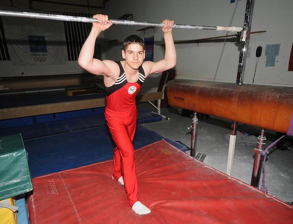 Salisbury:Noah Piotte, gymnast from Haverhill, at All-Around Gymnastics in Salisbury.Jim Vaiknoras/staff photo