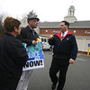Amesbury:Sumner Delaney and Jeannine Perley are asked to leave  the parking lot at Rite-Aid in Amesbury by one of the store managers. The two were at the lot handing out information about the Employee Free Choice Act.Jim Vaiknoras/Staff photo