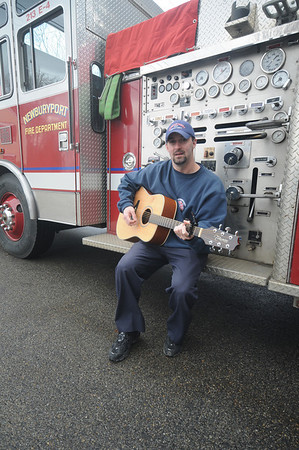 "Newburyport:10 year Newburyport Fire Department veteran Chris Richard will compete against other emergency personnel from across the state Êin the Stars Over Boston Unsung Heroes Who Sing contest. <br /> Richard will sing ""Forevers Not That Long,"" a song he wrote for his late wife Jamie. Jim vaiknoras/staff photo"