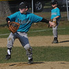 Amesbury: Ryan Sullivan of teh Marlins pitches to the Nationals  on Opening Day for the Amesbury Little League Saturday. Jim Vaiknoras/Staff photo