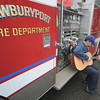 "Newburyport:10 year Newburyport Fire Department veteran Chris Richard will compete against other emergency personnel from across the state Êin the Stars Over Boston Unsung Heroes Who Sing contest. <br /> Richard will sing ""Forevers Not That Long,"" a song he wrote for his late wife Jamie.Jim Vaiknoras/Staff photo"