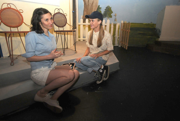 "Newburyport: Sara Fisher as Marge and Ashley Risteen as Millie in the Actor  Studio production of ""The Picnic"" directed by Arlene Barnard and Marc Clopton. Jim Vaiknoras/Staff photo"