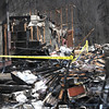 Merrimac:  Aftermath of Friday nights fire at Main Street fire in merrimac.Jim Vaiknoras/Staff photo
