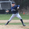 Lynnfield: Triton Bryan Walsh pitches at Lynnfield Saturday. Jim Vaiknoras/Staff photo