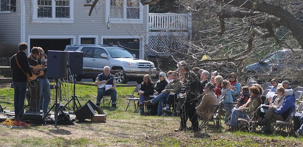 Newbury: people gather at the Interfaith Blessing of the Earth at the First Parish Church in Newbury Sunday afternoon.Jim Vaiknoras/Staff Photo