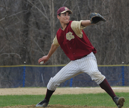 Georgetown: Newburyport High's Thomas Morris pitches against Georgetown at Georgetown Saturday