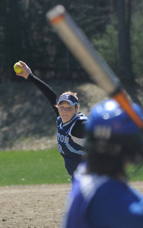 Georgetown: Triton's Marion Dullea piches in the Vikings 6-1 victory at Georgetown Friday .Jim Vaiknoras/Staff photo
