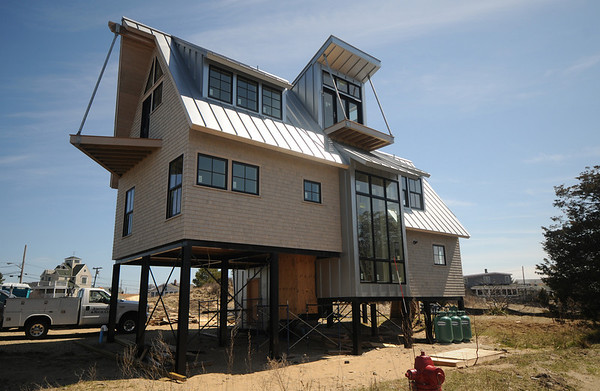 Newbury:House under construction on P street on Plum Island, which will be on the Earth Day tour this weekend.Jim Vaiknoras/staff photo