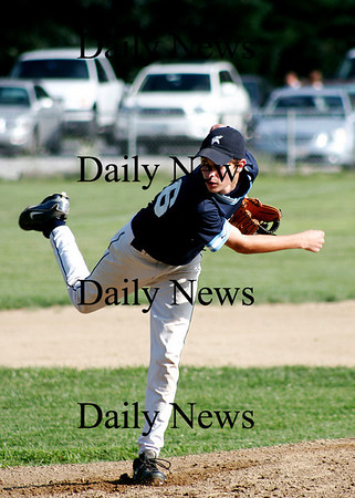 Rowley: Joey Levasseur pitches for the Triton Babe Ruth team Monday night agaist Timberlane. Photo by Ben Laing/Staff Photo