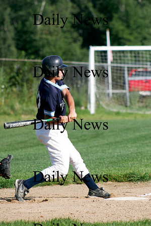 Plaistow: Derek Paquette of Triton takes a swing in the first inning of Tuesday's game against Timberlane in Plaistow. Photo by Ben Laing/Staff Photo