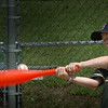 Amesbury:  Will Sullivan, 9, fouls while playing wiffle ball before hitting a single at Amesbury Town Park at the summer camp there. Last day for the program is next Friday, August 14. Bryan Eaton/Staff Photo Newburyport News  Monday August 3, 2009.