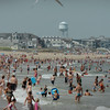 Salisbury: Throngs of people were at Salisbury Beach yesterday afternoon taking in the summer-like temperatures and sunshine. The rest of the week is forecast to be continued sun and heat with chance of showers on Wednesday.  Bryan Eaton/Staff Photo Newburyport News  Monday August 3, 2009.