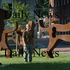 Newburyport: Artist Dale Rogers.  Bryan Eaton/Staff Photo  Newburyport News   Wednesday August 26, 2009.