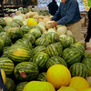 Newburyport: Harvey Beit checks out the melon selection at DeMoulas' Market Basket in Newburyport.  Bryan Eaton/Staff Photo Newburyport News  Monday August 3, 2009.