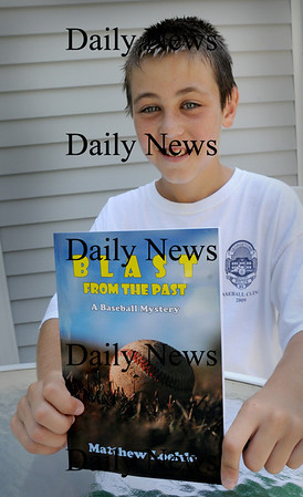 Georgetown: Matthew Loehle, 11, of Georgetown has just had his first book published. Bryan Eaton/Staff Photo  Newburyport News August 19, 2009.