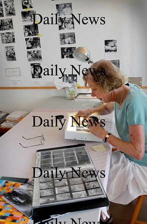 Newbury: Emily Corbato is exhibiting her fine art black and white photos that she has taken of Plum Island in the 24 years she's called the barrier island her home.  Bryan Eaton/Staff Photo  Tuesday August 11, 2009.