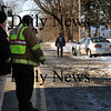 Salisbury: Salisbury and Amesbury Police investigate an accident involving this vehicle which hit a pedestrian on Congress Street in Salisbury yesterday afternoon. Bryan Eaton/Staff Photo