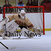 Newburyport: Newburyport goalie Anthony Frederica makes a save against Triton. Bryan Eaton/Staff Photo