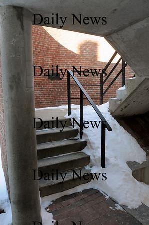 Newburyport: Inside one of the stairwells on Inn Street. Bryan Eaton/Staff Photo