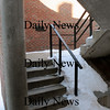 Newburyport: Inside one of the stairwells on Inn Street. Bryan Eaton/Staff Photo