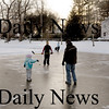 Newburyport: The Frog Pond at Newbury's Upper Green attracted some skaters Monday afternoon. Bryan Eaton/Staff Photo