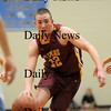 Byfield: Newburyport's Nick Welch (22) drives the lane against Triton during Tuesday night's game in Byfield. Photo by Ben Laing/Staff Photo