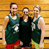 West Newbury: Pentucket Girls Basketball capatins, Ashley Viselli, left, Erin McNamara, center, and Holly Jacobson, right. Photo by Ben Laing/Staff Photo