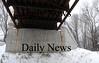 Newburyport: Rust stains on the Rail Trail Bridge over Low Street in Newburyport. Jim Vaiknoras/Staff photo